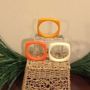 Vintage Jewelry - Vintage Square Bangles